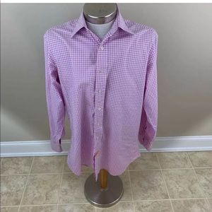 Hamilton Mens Button Front Shirt Pink Gingham